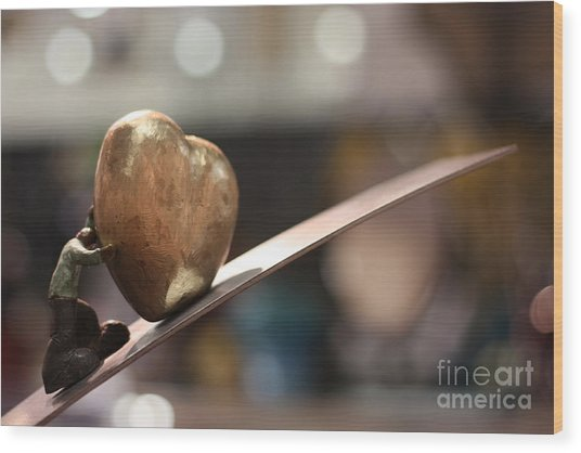 My Beautiful Heart Close Up Wood Print