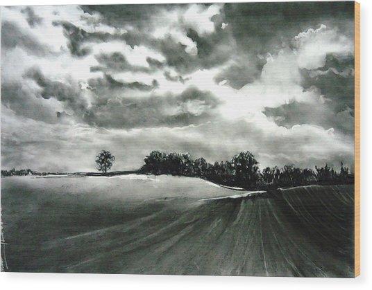 My Farm Land Wood Print