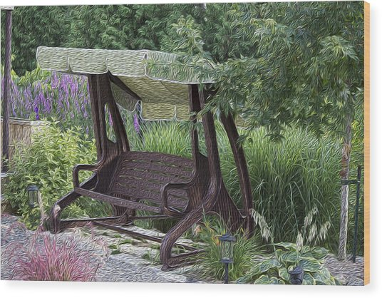 My Garden 4 Wood Print