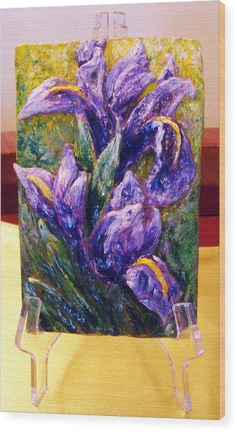 My Mini Irises Wood Print