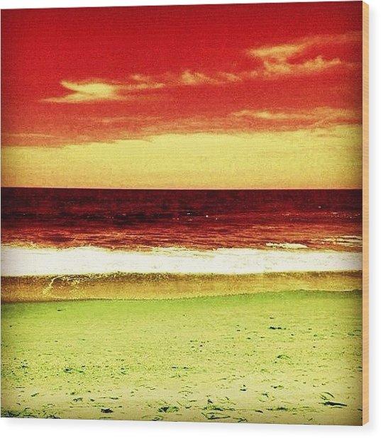 #myrtlebeach #ocean #colourful Wood Print