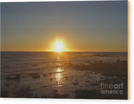 Mystic Sunset 2 Wood Print by Suze Taylor