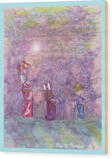 Mystical Stroll Wood Print