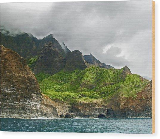 Na Pali Coast Hawaii 04 Wood Print