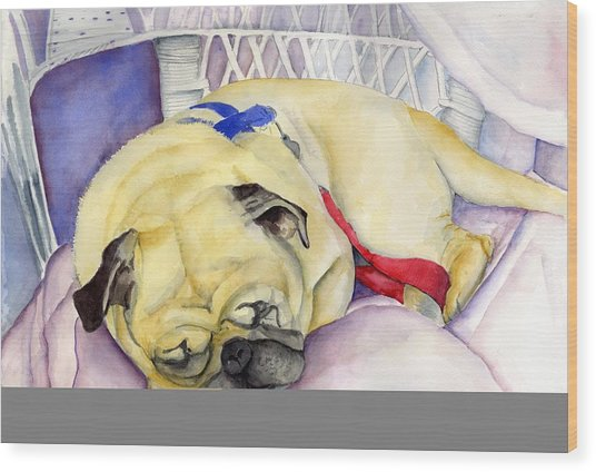 Naptime For Baden Wood Print by Paul Cummings