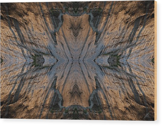 Narrows Mask Wood Print by Ed Kelley
