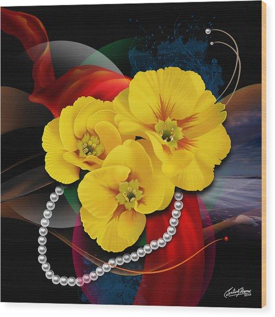 Natalys Flower Wood Print by Satish Verma