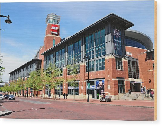 Nationwide Arena Wood Print