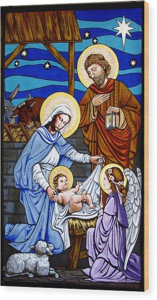 Nativity At Valley Ranch Wood Print