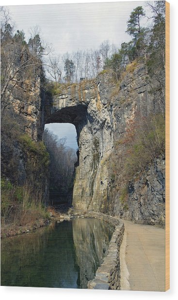 Natural Bridge Virginia Wood Print