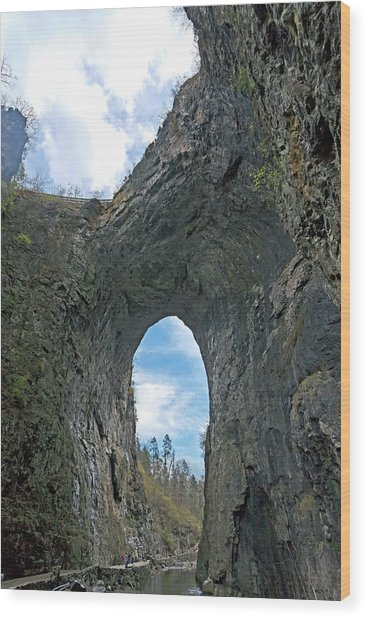 Natural Bridge Virginia2  Wood Print