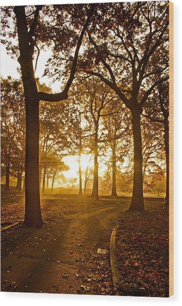 Nature's Alarm Clock Wood Print by Michael Murphy