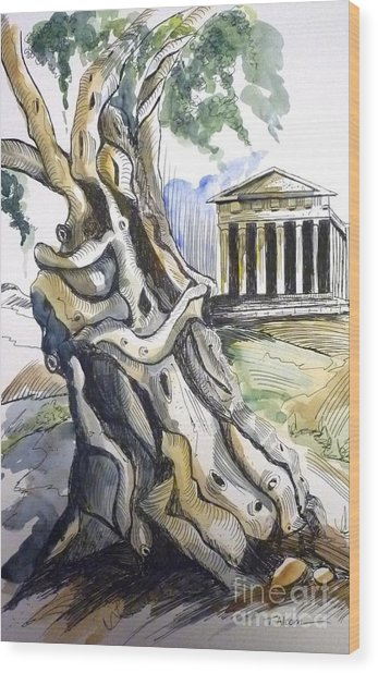 Nature's Embrace Wood Print