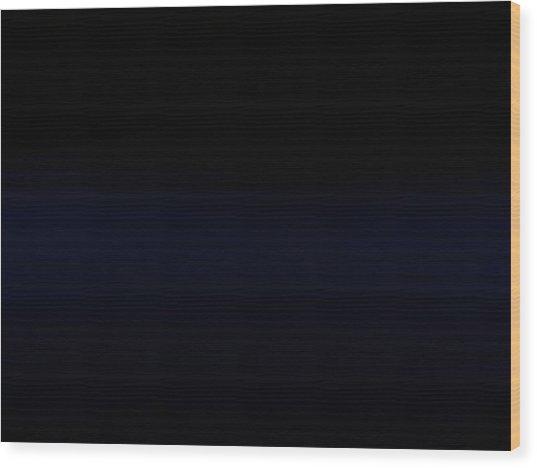 Navy Black Wood Print