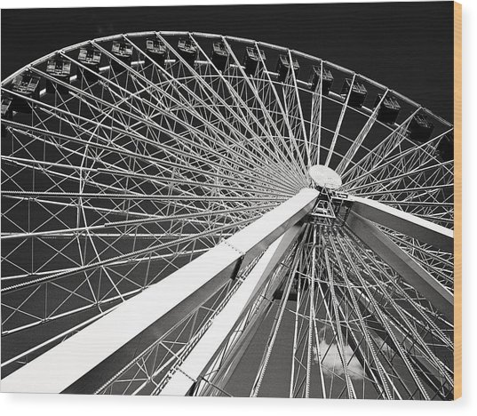 Navy Pier Ferris Wheel Wood Print