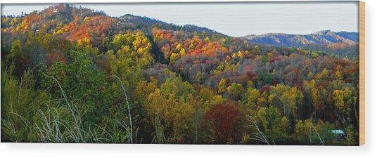 Nc Blue Ridge Mountains Wood Print