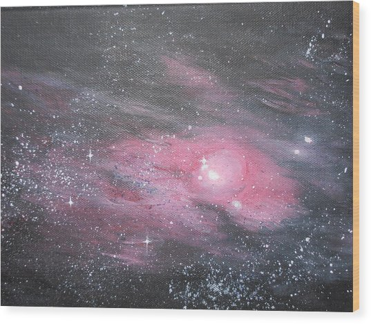 Nebula 1 Wood Print by Siobhan Lawson