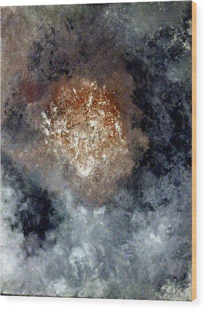Nebula Wood Print by Montserrat Lopez Ortiz