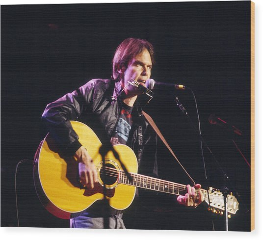 Neil Young 1986 Wood Print