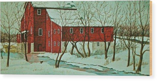 Nelsonville Mill Wood Print