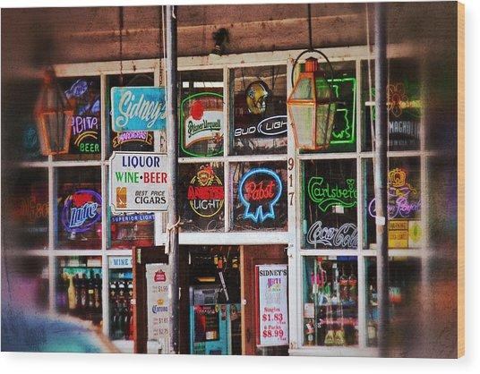 Neon Signs Wood Print