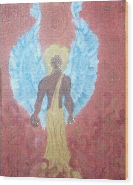 Nephilim Wood Print by Violette Meier