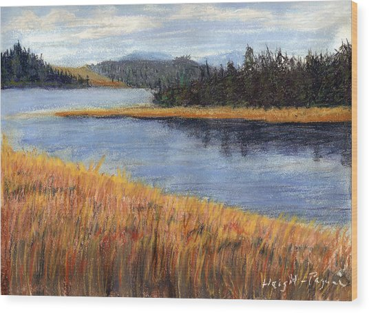 Nestucca River And Bay  Wood Print