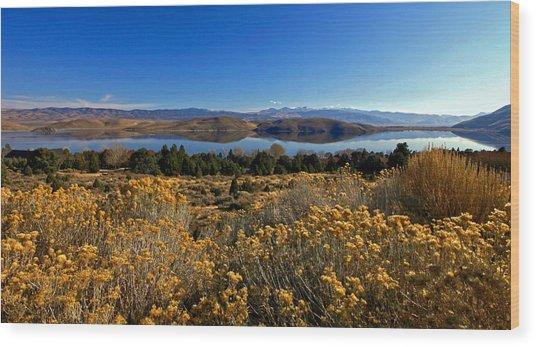 Nevada Lake At Dawn Wood Print