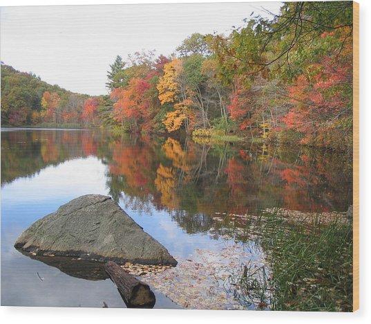 New England Autumn Wood Print by Jf Halbrooks