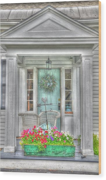 New England Doorway Wood Print by Lisa Goddard