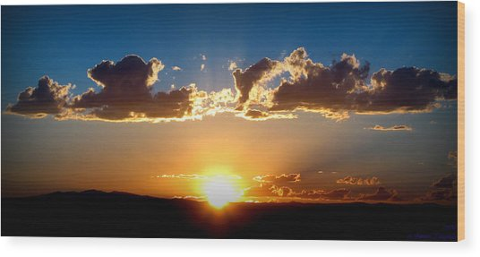 New Mexico Late Summer Skies Wood Print by Aaron Burrows