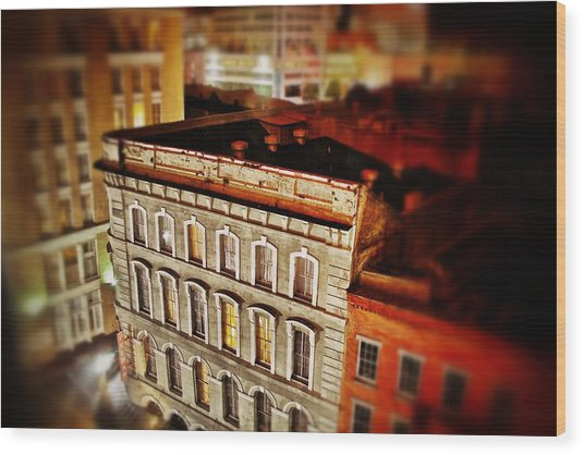 New Orleans Building  Wood Print