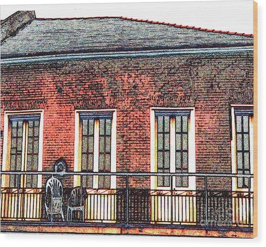 New Orleans Plantation House Wood Print by Merton Allen