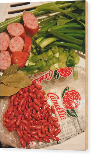 New Orleans' Red Beans And Rice Wood Print