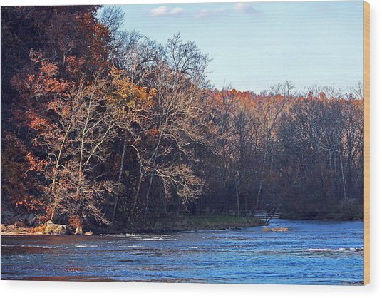 New River At Foster Falls Wood Print
