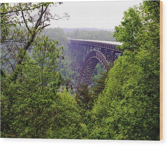 New River Gorge Bridge Wood Print by Leroy McLaughlin