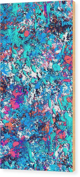 New Wave Dimension  Wood Print by Charles Yates