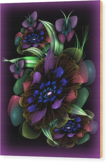 New Year's Bouquet Wood Print by Karla White