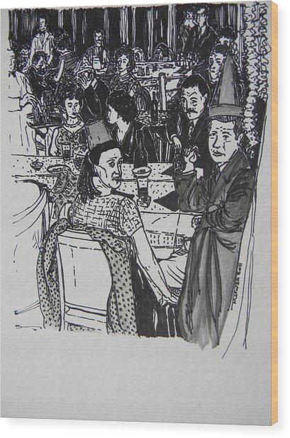 New Year's Eve 1950's Wood Print