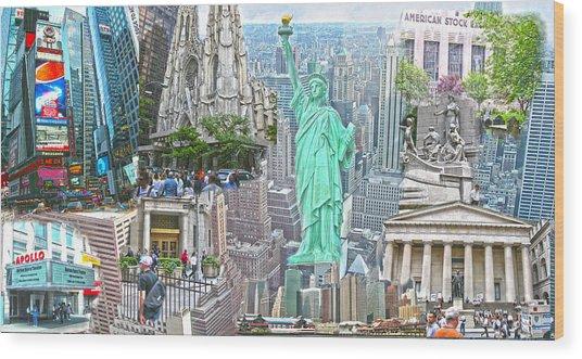 New York City Beyond Nine Eleven Wood Print