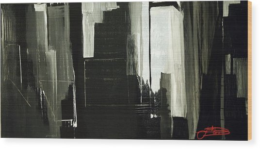 New York City Reflection Wood Print
