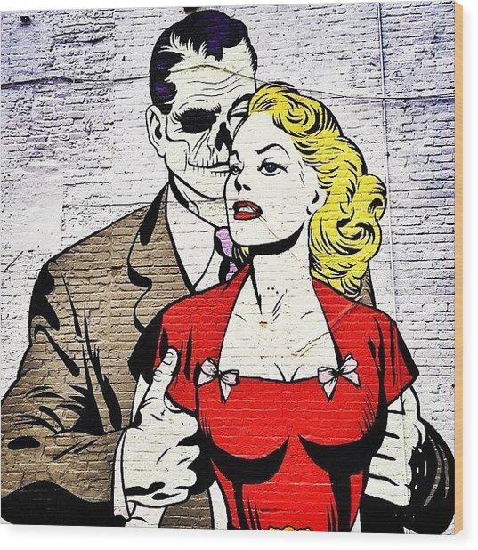 New York City Street Art - Love - Zombie Style Wood Print