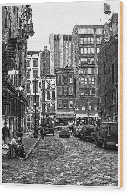 New York City Street Scene Wood Print by Scott Massey