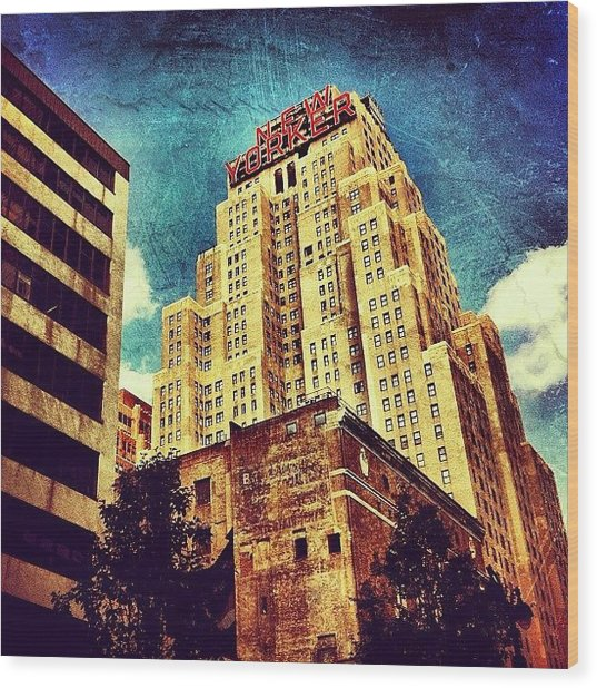 New Yorker Hotel Wood Print