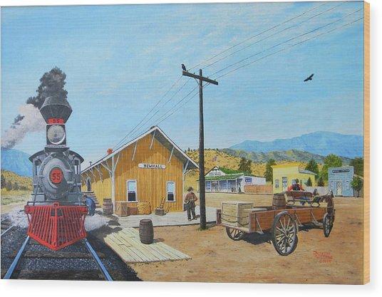 Newhall Station Wood Print