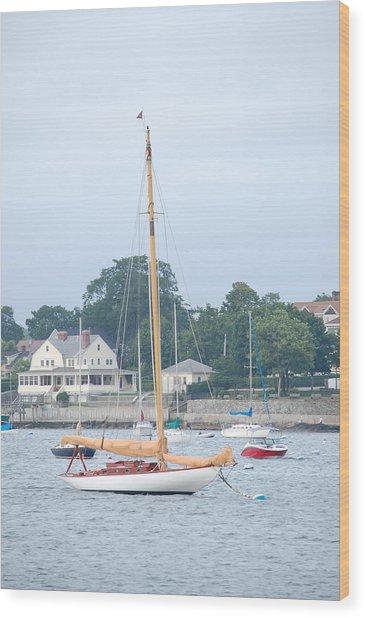 Newport Ri Wooden Sailboat Wood Print
