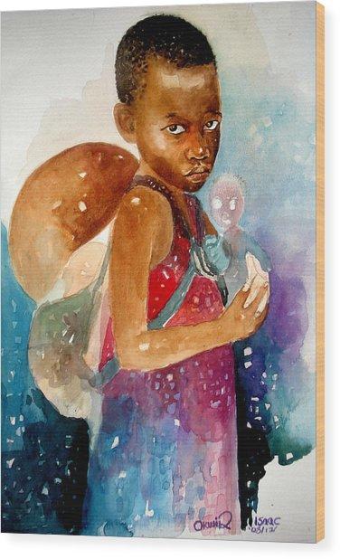 Next Of Kin Wood Print by Okwir Isaac