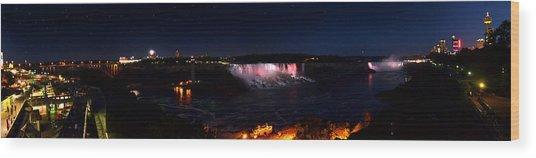 Niagara Falls Panoramic Wood Print