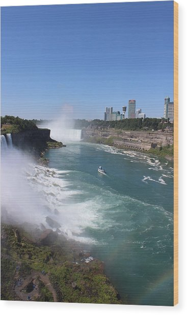 Niagara Falls Wood Print by Vinod Reddy