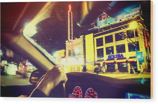 Night Driver Wood Print by Susan Stone